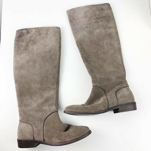 Ugg Gray Suede Daley Tall Boots Knee High Minimali